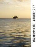 View Of A Big Cargo Ship...