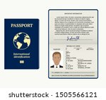 passport. vector illustration.... | Shutterstock .eps vector #1505566121