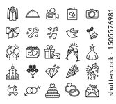 wedding icon set collection  ... | Shutterstock .eps vector #1505576981