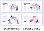 online shopping web banner...   Shutterstock .eps vector #1505578457