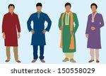 east indian men   Shutterstock .eps vector #150558029