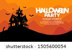 halloween old haunted house... | Shutterstock .eps vector #1505600054