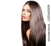 long healthy straight hair.... | Shutterstock . vector #150560009