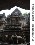 Kailasnath Temple kailasa rock-cut ancient Hindu temple Ellora caves