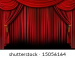 multiple red layered stage... | Shutterstock . vector #15056164