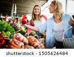 Young Happy Women Shopping...