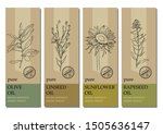 vector set of labels with... | Shutterstock .eps vector #1505636147