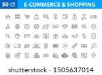 set of 50 e commerce and... | Shutterstock .eps vector #1505637014