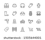 safety equipment  required ppe... | Shutterstock .eps vector #1505644001