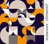 abstract retro patten of... | Shutterstock .eps vector #1505662427