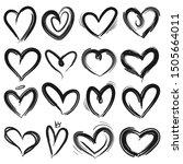 sketch heart. decorative grunge ... | Shutterstock .eps vector #1505664011