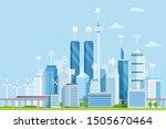 smart city flat vector... | Shutterstock .eps vector #1505670464