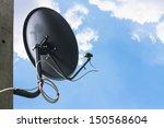 Satellite Television Aerial On  ...