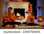 Little Girl And Boy In Witch...
