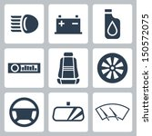 vector auto parts icons set | Shutterstock .eps vector #150572075