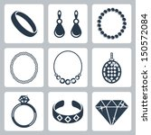 vector isolated jewelry icons... | Shutterstock .eps vector #150572084