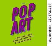 slanted 'pop art' vintage 3d... | Shutterstock .eps vector #1505721194
