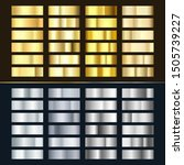 golden and silver gradient set. ... | Shutterstock .eps vector #1505739227