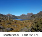 cradle mountain with a sunny... | Shutterstock . vector #1505754671