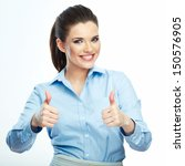 thumb up. business woman... | Shutterstock . vector #150576905