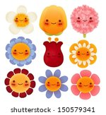 collection of cute flowers  ... | Shutterstock .eps vector #150579341