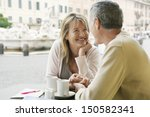 happy couple looking at each... | Shutterstock . vector #150582341
