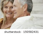 closeup of happy middle aged... | Shutterstock . vector #150582431