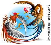 animal,beat up,bird,bullying,cartoon,character,chicken,chicken fight,chicken fighting,claw,clip art,clipart,cock,cock fight,cock fighting