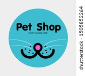 pet care shop dog with cat logo ...   Shutterstock .eps vector #1505852264