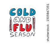 doodle cold and flu season... | Shutterstock .eps vector #1505867351
