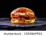 Homemade Chicken Burger With...