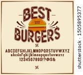 font burger. vintage typeface... | Shutterstock .eps vector #1505895377