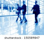 business people rushing in the... | Shutterstock . vector #150589847
