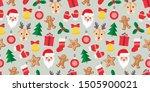 seamless pattern of christmas... | Shutterstock .eps vector #1505900021
