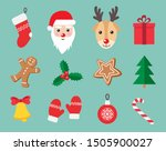 christmas and new year symbols... | Shutterstock .eps vector #1505900027