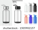 bottle 3d mock up realistic... | Shutterstock .eps vector #1505902157