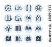 map icons | Shutterstock .eps vector #150590555