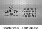 font. alphabet. script.... | Shutterstock .eps vector #1505908451
