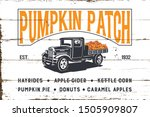 Pumpkin Patch With Old Truck...