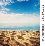 beach background with sand ... | Shutterstock . vector #150591131