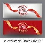 elegant grand opening... | Shutterstock .eps vector #1505916917