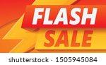 flash sale concept banner....   Shutterstock .eps vector #1505945084