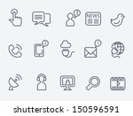 communication icons | Shutterstock .eps vector #150596591