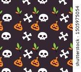 halloween pumpkins halloween...   Shutterstock .eps vector #1505975054