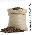 Bag Of Coffee Beans Isolated O...