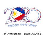 happy new 2020 year with flag... | Shutterstock .eps vector #1506006461