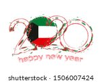 happy new 2020 year with flag... | Shutterstock .eps vector #1506007424
