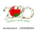 happy new 2020 year with flag... | Shutterstock .eps vector #1506008564