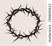 Crown of thorns graphic illustration. Vector religious symbol of Christianity