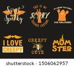 halloween graphic prints set...   Shutterstock .eps vector #1506062957
